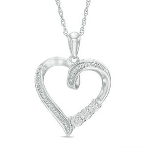 Diamond Accent Heart Pendant Necklace
